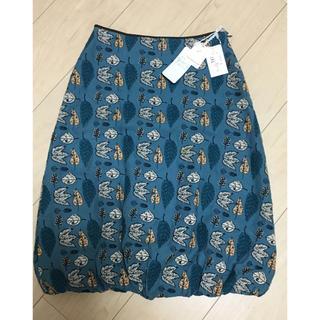ミナペルホネン(mina perhonen)のミナペルホネン mina winter flags スカート 36(ひざ丈スカート)