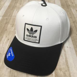 adidas - 新品未使用 adidas originals アディダス 白 ロゴ キャップ
