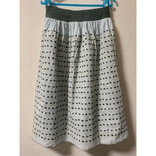 ミナペルホネン(mina perhonen)のmina ミナペルホネン hope rainスカート 36 コットン(ひざ丈スカート)