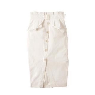 エイミーイストワール(eimy istoire)のeimy♡ ペプラムベルト付きスカート(ひざ丈スカート)