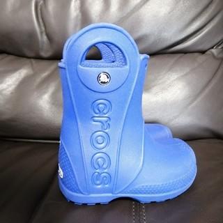 クロックス(crocs)のクロックス 長靴青 15.5cm(長靴/レインシューズ)