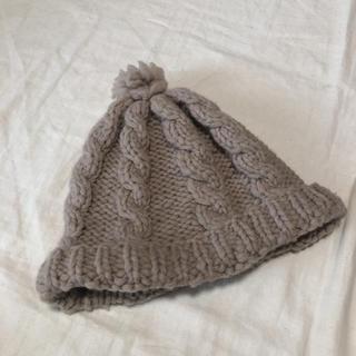 カナタ(KANATA)のKANATA ハンドニット ニット帽(ニット帽/ビーニー)