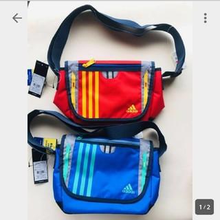 adidas - 新品 正規品 アディダス 肩掛け バッグ 子供用 adidas 赤青2個セット