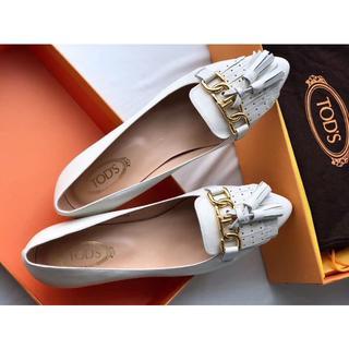 TOD'S - TOD'S トッズ靴/シューズ パンプス ハイヒール 白 サイズ37