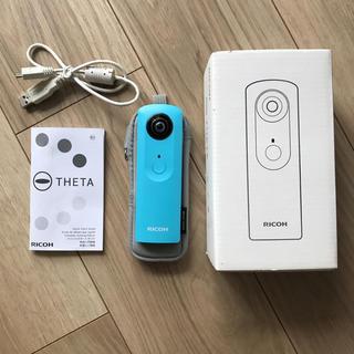 リコー(RICOH)の RICOH の360度カメラ THETA m15  (BLUE) (コンパクトデジタルカメラ)