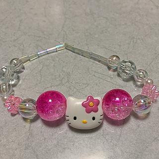 ハローキティ(ハローキティ)のセール!新品キティちゃんジュエルブレスレット!ピンク☆花☆ブライダルパール!(ブレスレット/バングル)