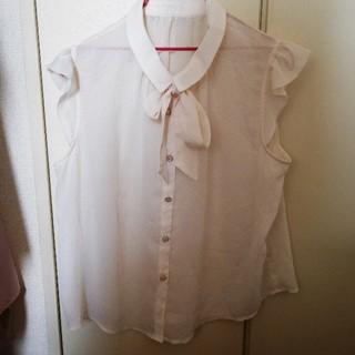 大きいサイズ 3L フリル ブラウス(シャツ/ブラウス(半袖/袖なし))