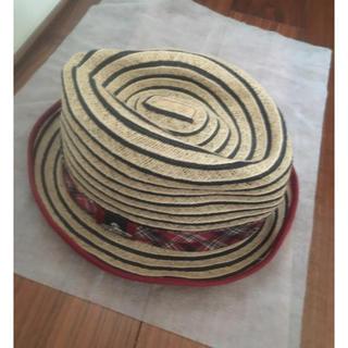 ヴィヴィアンウエストウッド(Vivienne Westwood)の美品 ヴィヴィアンウエストウッド 麦わら帽子(麦わら帽子/ストローハット)