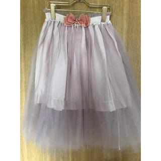 リズリサ(LIZ LISA)のリボン付きチュールスカート(ひざ丈スカート)