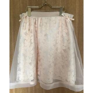 リズリサ(LIZ LISA)のフラワーオーガンジースカート(ひざ丈スカート)