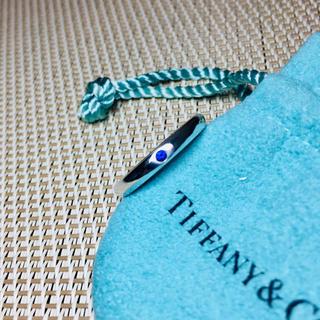ティファニー(Tiffany & Co.)の【美品 正規品】ティファニー 指輪 リング ブルー サファイア シルバー 10号(リング(指輪))