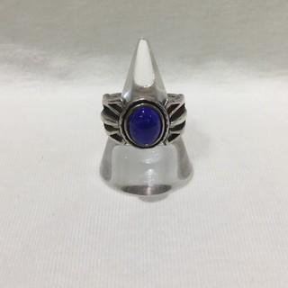 シルバーリング ガレッジリング Silver 925 ストーン 石 ブルー 青色(リング(指輪))