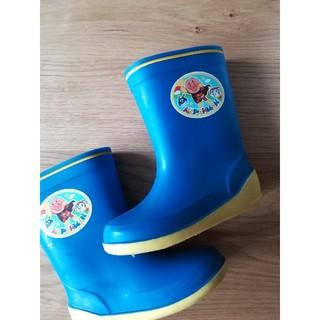 ムーンスター(MOONSTAR )のアンパンマン 長靴 レインブーツ 16cm 青(長靴/レインシューズ)