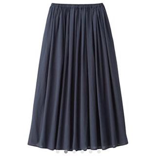 ムジルシリョウヒン(MUJI (無印良品))の無印良品 MUJI インド綿強撚イージーマキシスカート (ロングスカート)