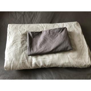 イケア(IKEA)のIKEA シングルベッドボックスシーツ 枕カバー(シーツ/カバー)