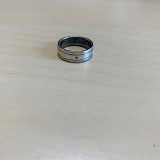 シルバーリング ブルーダイヤ入り(リング(指輪))