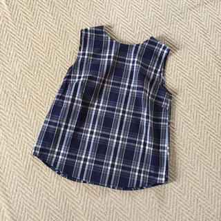 ジーユー(GU)のGU☆チェック柄 ノースリーブシャツ(シャツ/ブラウス(半袖/袖なし))