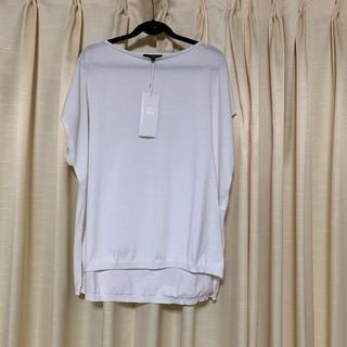 ニジュウサンク(23区)の23区     トップス (ホワイト)   サイズ 32(カットソー(半袖/袖なし))