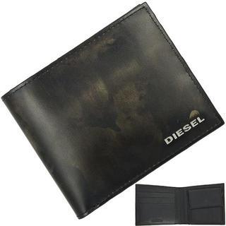 ディーゼル(DIESEL)のディーゼル 二つ折り財布 迷彩柄 ブラック(折り財布)