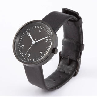 ムジルシリョウヒン(MUJI (無印良品))の新品★無印良品★腕時計・Wall Clock・黒 黒革 メンズ レディース (腕時計(アナログ))