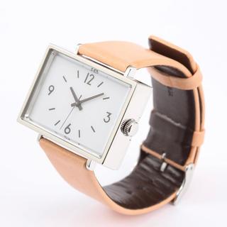 ムジルシリョウヒン(MUJI (無印良品))の新品★無印良品★腕時計・駅の時計 ヌメ革 メンズ レディース(腕時計)