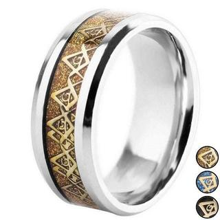 フリーメイソン 指輪 リング 秘密結社 都市伝説で話題 ゴールド 13号(リング(指輪))