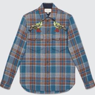sale retailer ff2ab 4f97b GUCCI ウールチェックシャツ