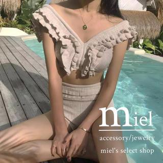 ロキエ(Lochie)のv-neck knit swim wear/ニット水着(水着)