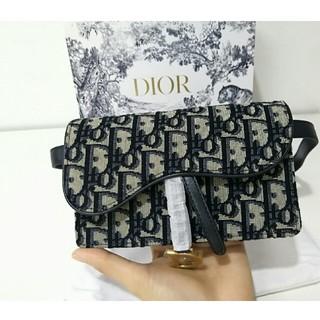 ディオール(Dior)の美品 Diorディオール saddleポディバッグ ウエストポーチ(ボディバッグ/ウエストポーチ)