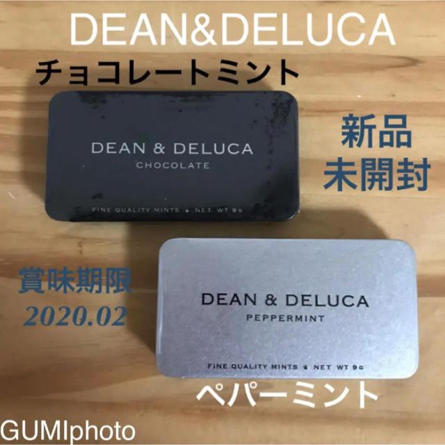 DEAN & DELUCA(ディーンアンドデルーカ)のDEAN&DELUCA ミント缶セット ペパーミント&チョコレートミント 新品 食品/飲料/酒の食品(菓子/デザート)の商品写真