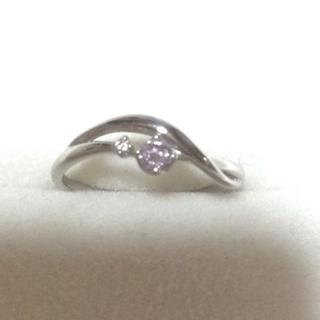 クミキョク(kumikyoku(組曲))の組曲 ピンクダイヤモンド リング pt900(リング(指輪))