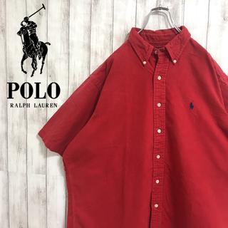 ラルフローレン(Ralph Lauren)の90s 古着 ラルフローレン ワンポイント刺繍ロゴ ビッグ 半袖 BDシャツ(シャツ)