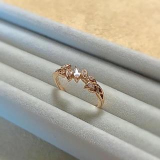 ヨンドシー(4℃)の4℃ k18 ゴールド リング ホワイトトパーズ ダイヤモンド(リング(指輪))