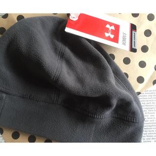 アンダーアーマー(UNDER ARMOUR)のUnder Armour グレー ビーニー woman's 新品タグ付き(ニット帽/ビーニー)