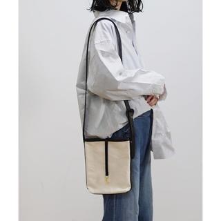アンユーズド(UNUSED)のneonsign×kaiko BUCKET BAG 白×黒(ショルダーバッグ)