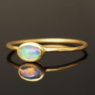 Water opal oval ring(リング(指輪))
