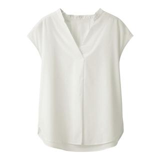 ジーユー(GU)のジーユー スキッパーシャツ(シャツ/ブラウス(半袖/袖なし))