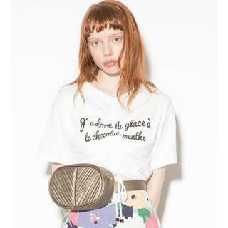 リリーブラウン(Lily Brown)のリリーブラウン ドロストクロップド Tシャツ(Tシャツ(半袖/袖なし))