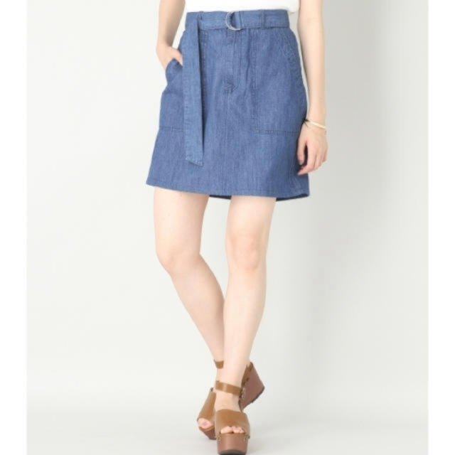 LOWRYS FARM(ローリーズファーム)のベルト付きベーカーミニスカート レディースのスカート(ミニスカート)の商品写真