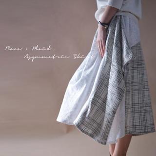 アンティカ(antiqua)の新品未使用 タグ付き antiqua レース切り替え変形スカート(ロングスカート)