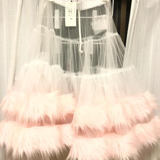 コムデギャルソン(COMME des GARCONS)の新品 タグ付き コムデギャルソンガール(ひざ丈スカート)