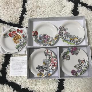 ディズニー(Disney)のアリスインワンダーランド小皿5枚セット(食器)