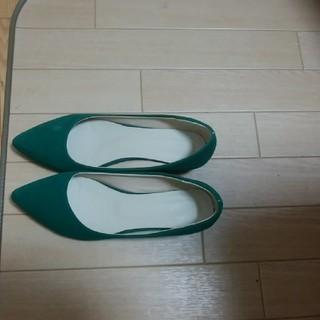 緑パンプス サイズ42(ハイヒール/パンプス)