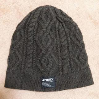 アヴィレックス(AVIREX)の新品 アヴィレックス AVIREX ニット帽 キャップ ビーニー 帽子(ニット帽/ビーニー)