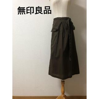 ムジルシリョウヒン(MUJI (無印良品))の無印良品 巻きロングスカート(ロングスカート)