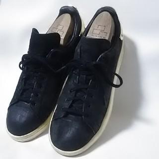 アディダス(adidas)の 希少!アディダススタンスミスメタル高級クロコダイル柄レザースニーカー人気黒  (スニーカー)