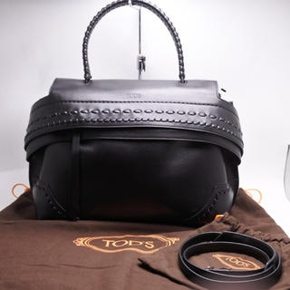 TOD'S - トッズ TODS WAVE BAG 2WAY ウェーブ ステッチ ハンドバッグ