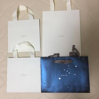 シロ(shiro)のshiro 紙袋4枚(ショップ袋)