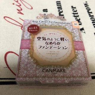 CANMAKE - キャンメイク エアリーカバー フィットファンデーション 02