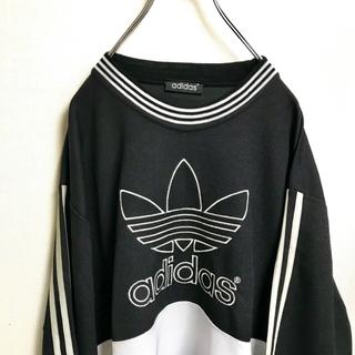 adidas old トレフォイル ロゴ刺繍 Tシャツ vintage